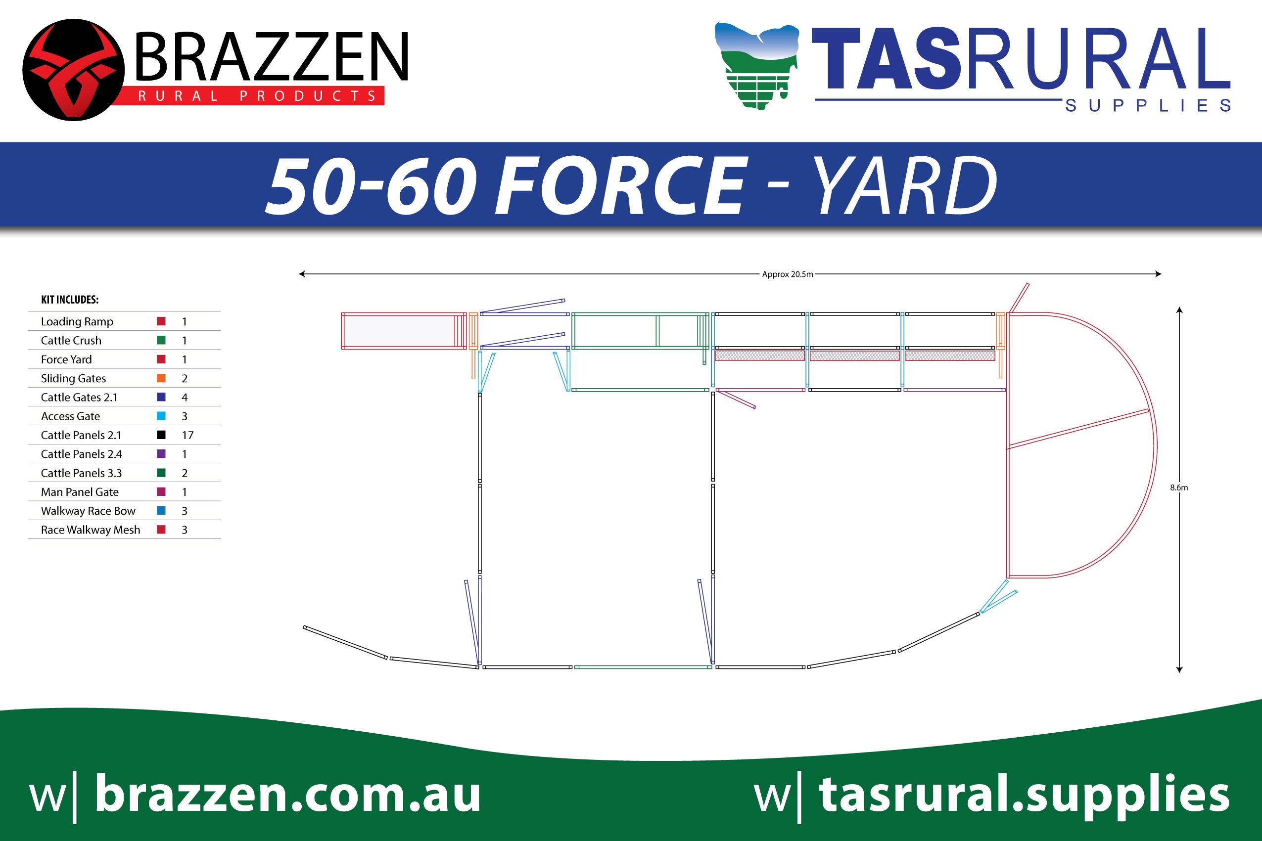 50-60 force yard