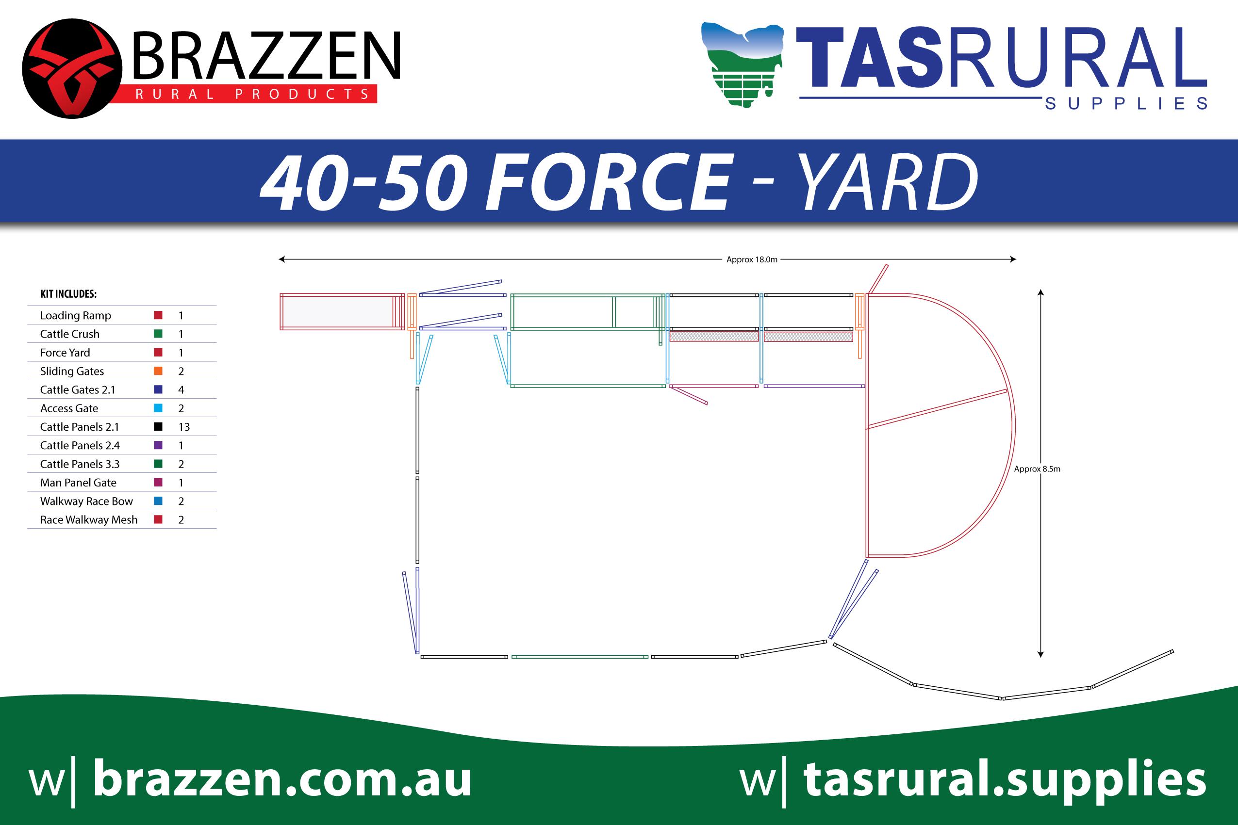 40-50 force yard