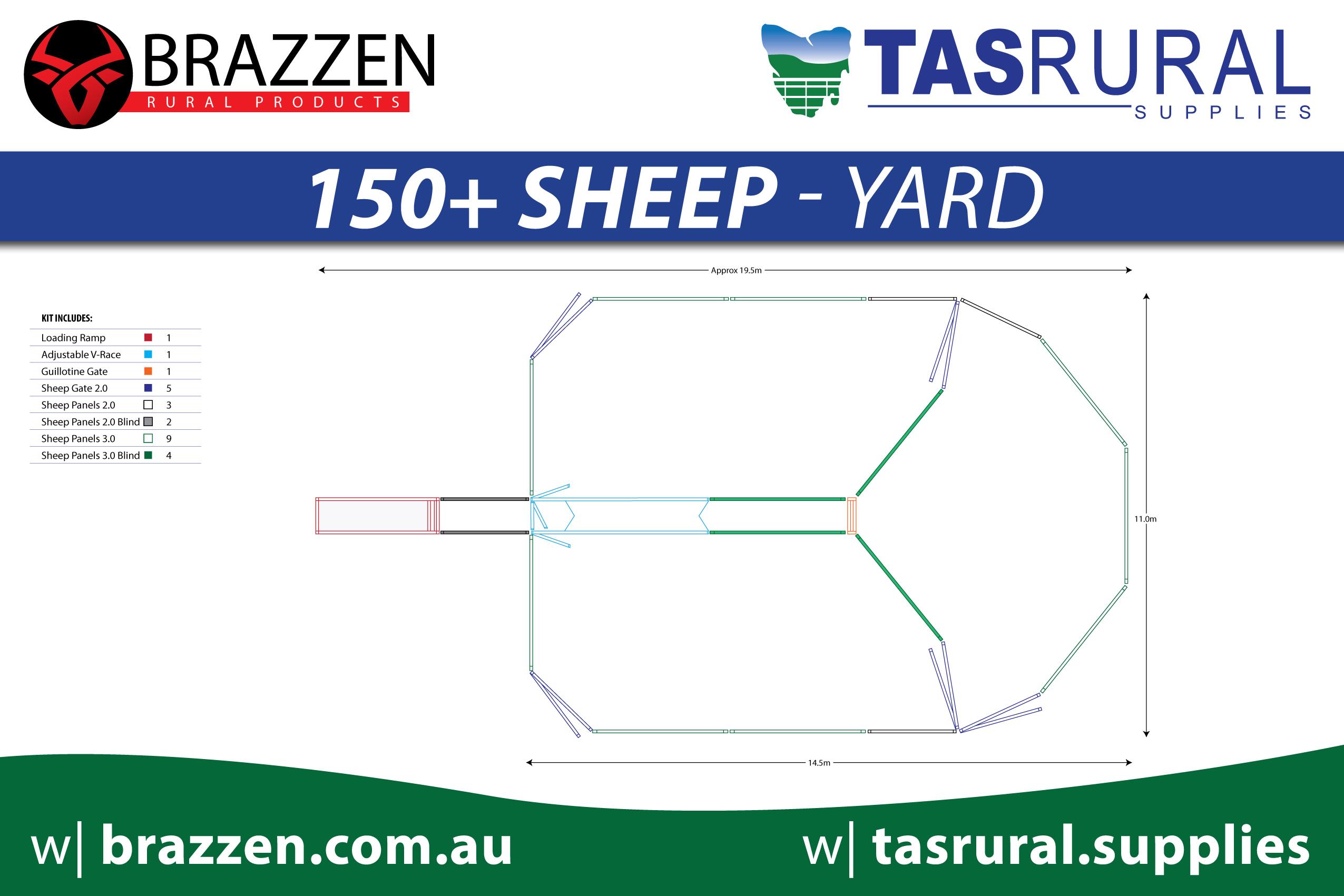 150+ sheep yard