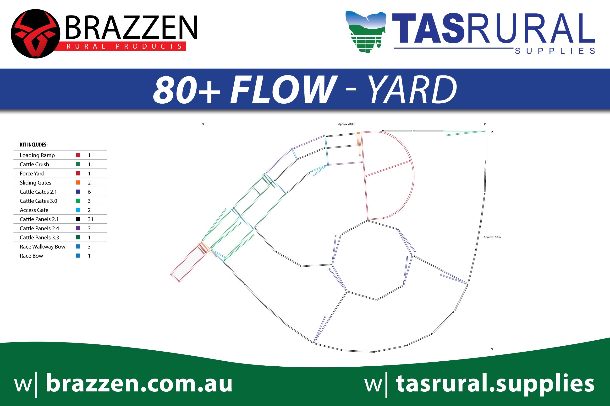80+ flow yard